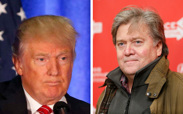 Trump and new campaign manager, Steve Bannon
