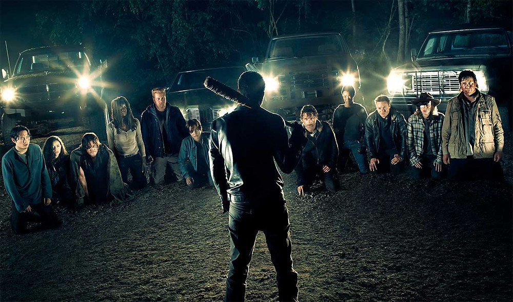 The final image from season 6 leaves fans wondering who will be Lucille's next victim.