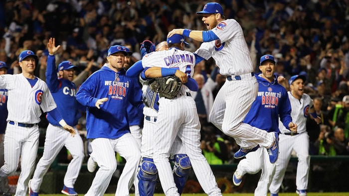 The Cubs are the favorites to win the Series.