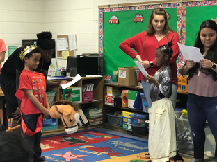 CHS Theatre Club participates in Eastside Elementary Fine Arts Day