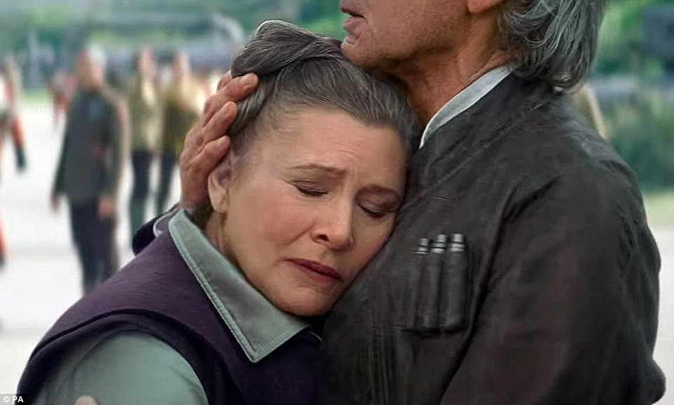 """Carrie Fisher, who played Princess Leia, passed away last month. She will appear in """"The Last Jedi"""""""