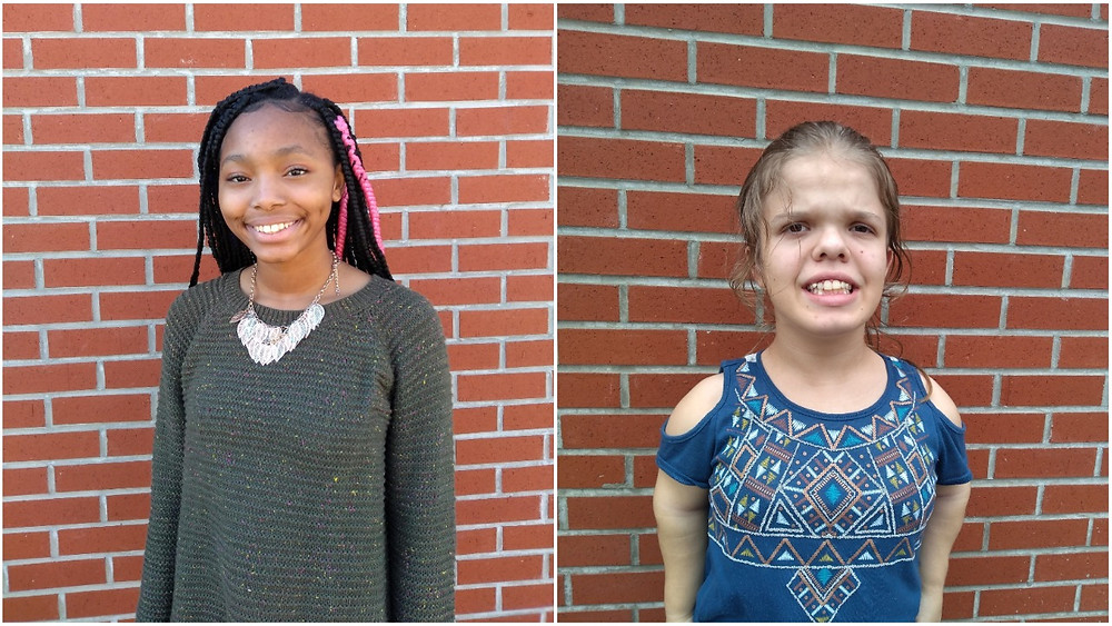Bre-Ijaha (right) and Makayla (left) are this week's PBIS Students.