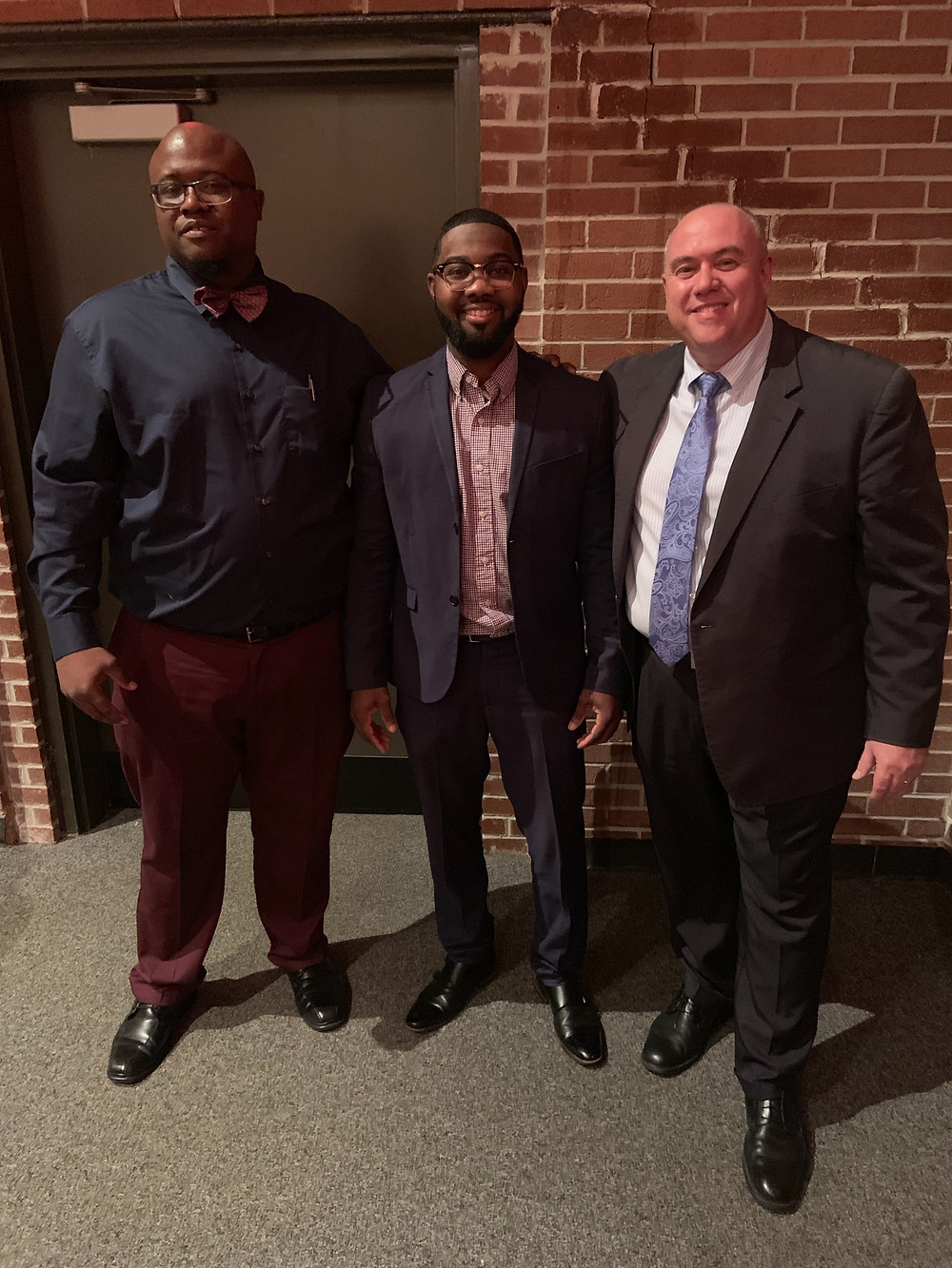 ((L-R) CHS science teacher and S.A.G.E. sponsor, Harold Edwards; Cairo Mayor Booker Gainor; and CHS Principal Chris Lokey