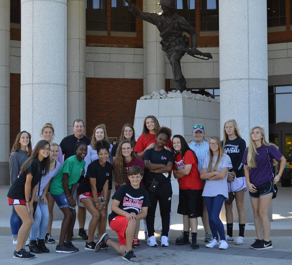 CHS Softball Players at the Infantry Museum