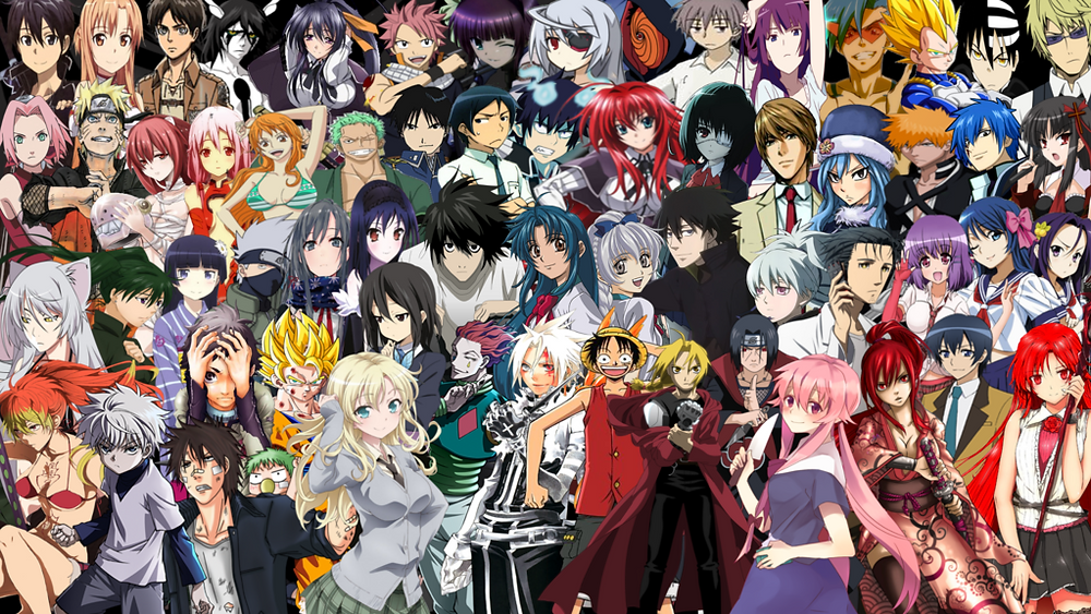 Characters from different anime's
