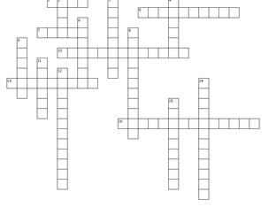 Superhero Crossword