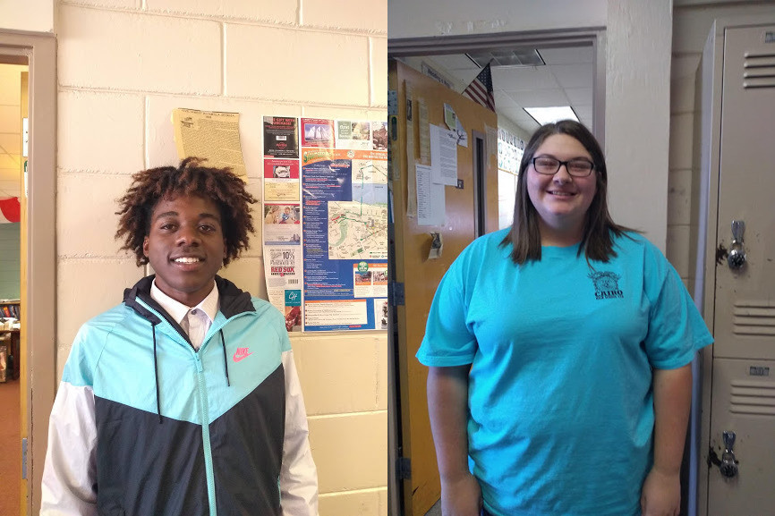 Stacy Burks (left) and Erin Pearce (right) were both named PBIS Students of the Week.