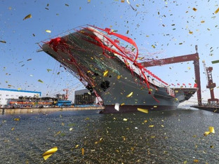China launches 2nd aircraft carrier to boost military power
