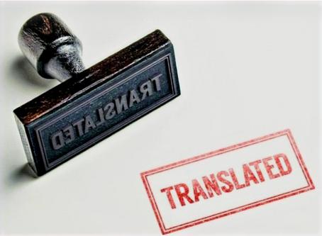 Let's Talk Legalized/Certified Translations