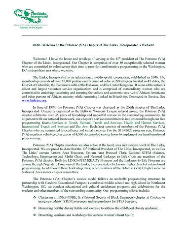 Potomac Links President Statement  2020-