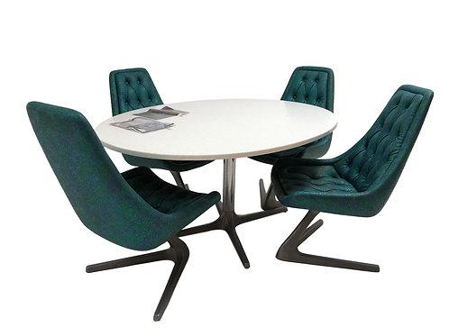 Chromocraft Sculpta Unicorn Chair and Table Set