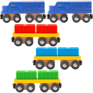 11 Pc Intermodal Freight Train Set