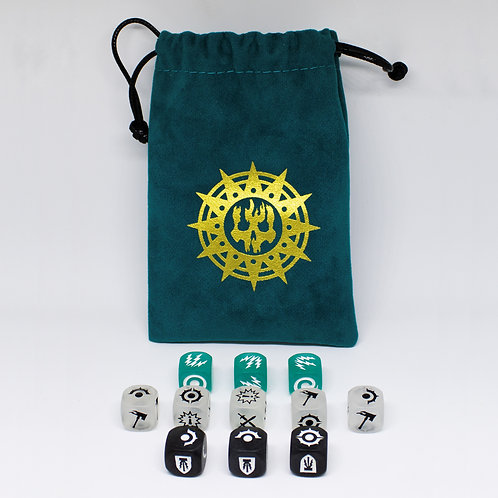 Nightvault Bonus Frosted Dice pack with special pouch