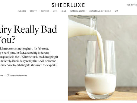 Sheer Luxe - Is Dairy really bad for you?