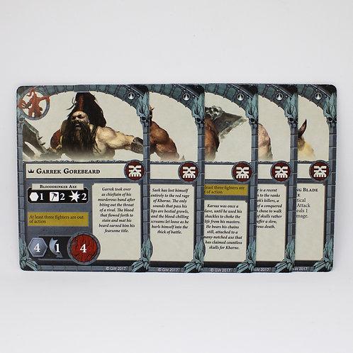 Garrek's Reavers - Fighter cards