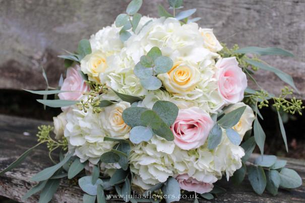 Brides Hydrangea and Rose Handtied.JPG