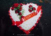 HE2 Based Heart Pad with Red Rose Spray.