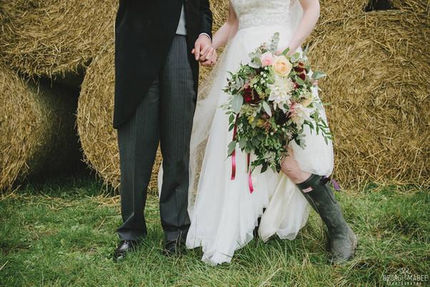 Bride in Wellies!
