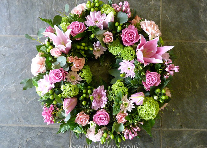 WR8 Pink and Lime coloured Wreath.JPG