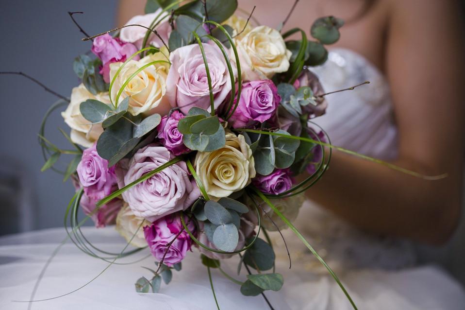 Bouquet against Dress.jpg