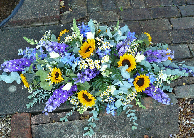 SP9 Delphinium and Sunflower Spray.JPG