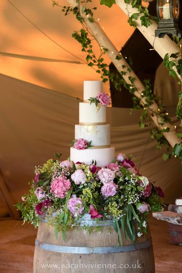 Cake with Whiskey Barrel Display.jpg