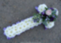 CR2 White Purple and Pink Cross with Pur
