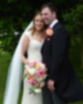 Brides Bouquet with Bride and Groom.JPG