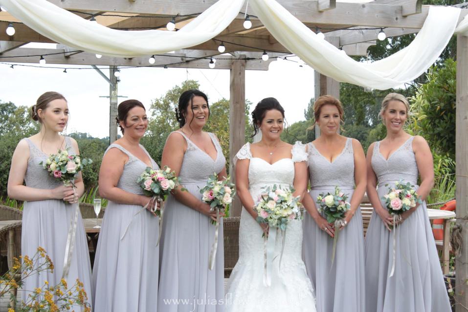 Bride, Maids & Bouquets.JPG