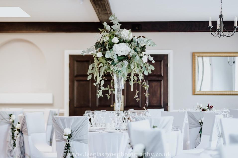 Tall Vase in Langton Room Hothorpe Hall.