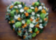 HE2 Mixed Heart Pad in Orange, Green and