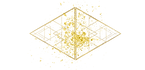DOUBLE TRIANGLE gold particles canva png