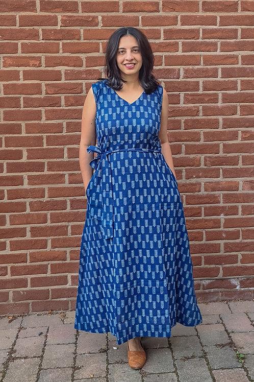 Indigo Printed Maxi Dress