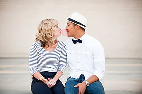 Man Woman about to kiss
