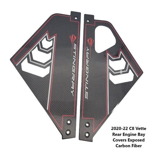 2020-22 Corvette C8 Rear Engine Bay CUSTOM Covers