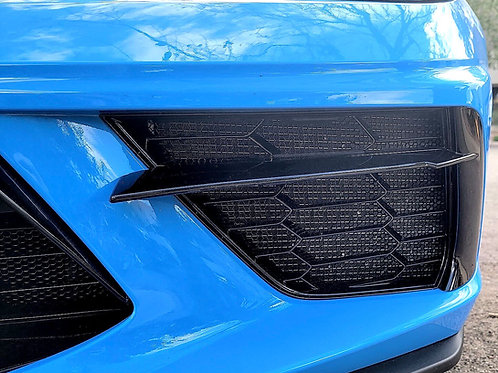 C8 Chevrolet Corvette 2020+ Aluminum HEXAGON Radiator Grille Screens