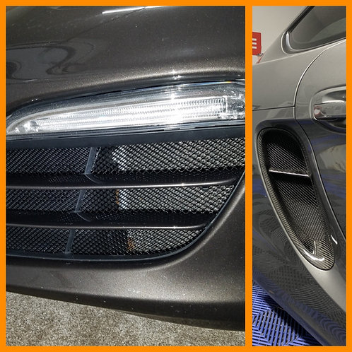 Porsche Boxster Radiator Grill and Side Intake Grills