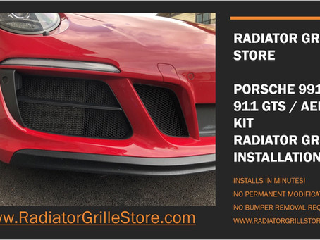 Porsche 911 2017-2019 GTS front radiator grilles are here! And they are amazing!