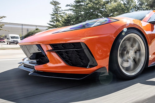 Custom c8 Corvette radiator Grille Sebring Orange bumper