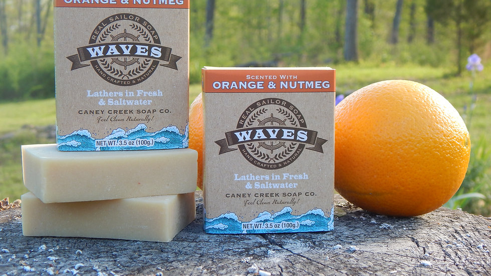 Waves Orange and Nutmeg Soap