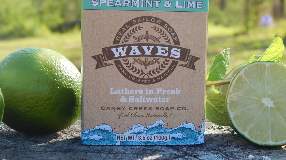 Waves Spearmint and Lime Soap