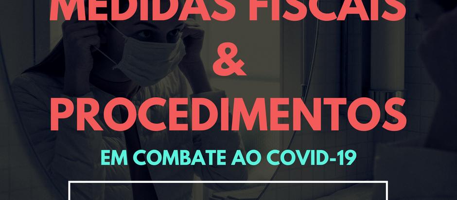 Conheça as Medidas Fiscais e Procedimentos que o Estado do Tocantins adotou para combater o COVID-19