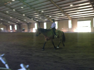 Our trainer and her horse during a Western Pleasure class.