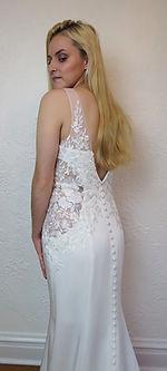 Style Skylar wedding gown back view