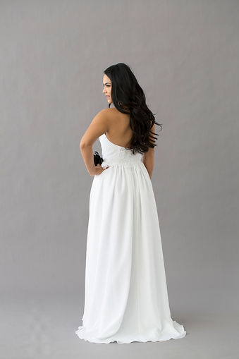 Style Meadow wedding gown back view