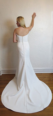 Style Amber Wedding Gown Back view