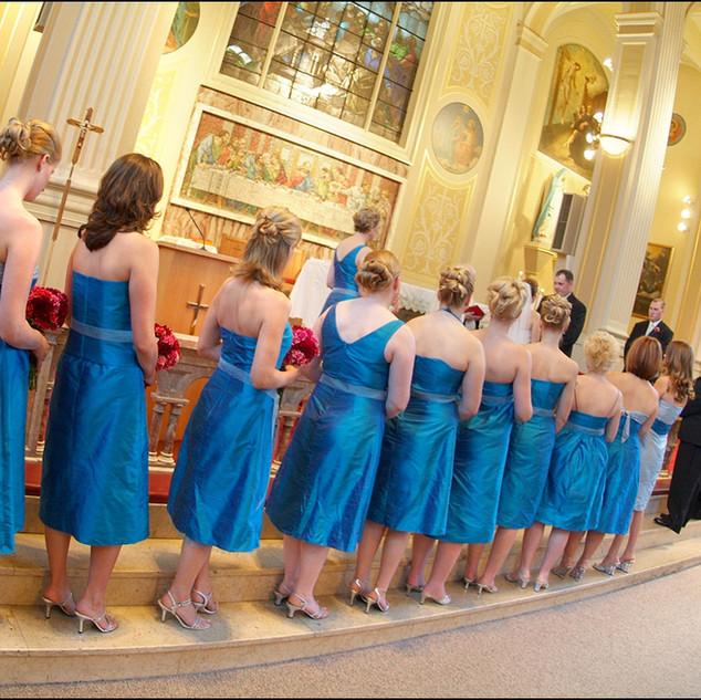 Silk shantung bridesmaids