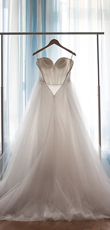 The perfect wedding dress with a full sk
