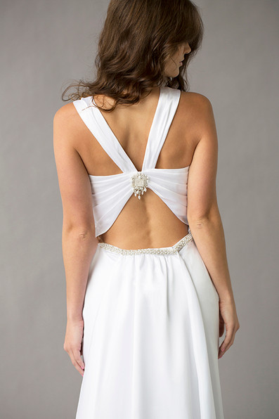Style Ava Wedding Gown Back Close Up