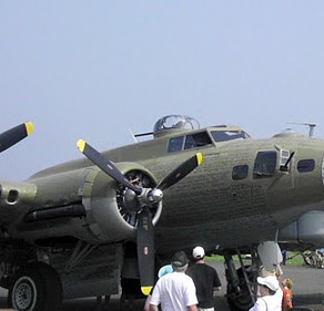Bombers Land at Wall Airport
